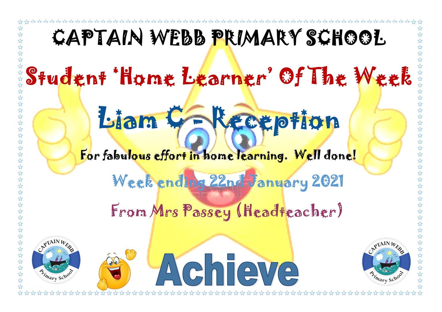 Student home learner of the week Rec.jpg