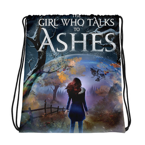 The Girl Who Talks to Ashes Drawstring bag