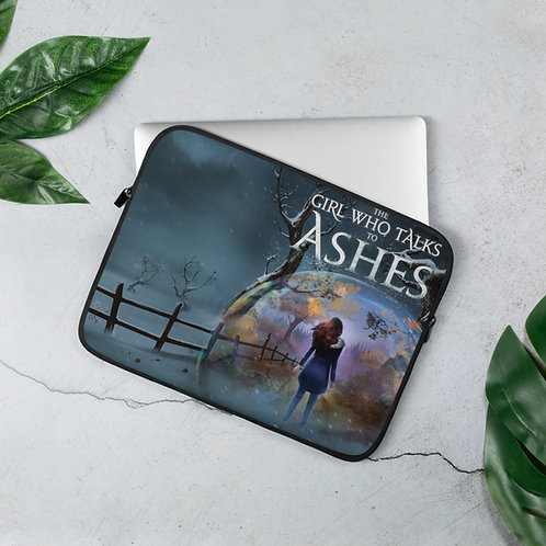 The Girl Who Talks to Ashes Laptop Sleeve