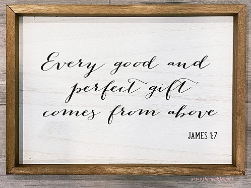 Every Good and Perfect Gift Wall Sign