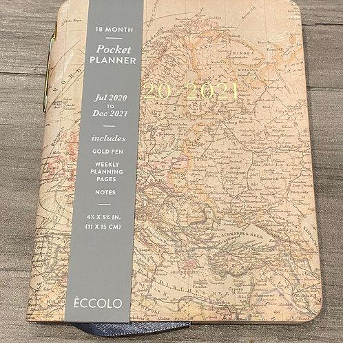 2021 Pocket Planner - World Map Design