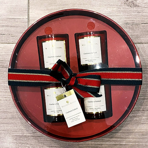 WB Cranberry Garland Candle Gift Set