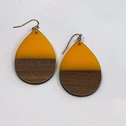 CC Mustard + Wood Teardrop