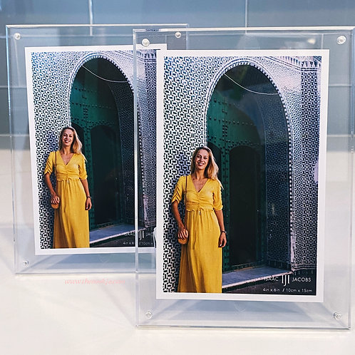 IJI 4x6 Clear Acrylic Magnetic Photo Frame Pair