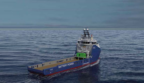 ROLLS-ROYCE TO UPGRADE  SIX OFFSHORE VESSELS WITH  BATTERY PACKS