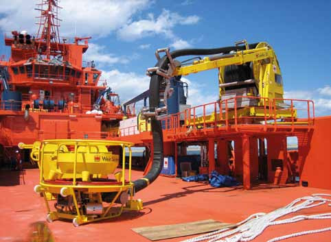 Framo TransRec System placed on the deck of a supply ship.