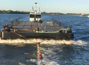 NEW FLAT TOP DECK CARGO BARGE FOR JENKINS MARINE