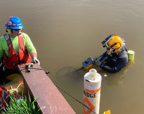 Tracking Cables in a Muddy River-Way