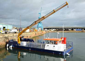 FOR SALE: 2018 ROAD TRANSPORTABLE SPLIT-HULL MULTI-PURPOSE WORK VESSEL. READY NOW!
