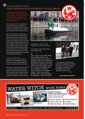 Latest Water Witch Workboat on Sea Trials