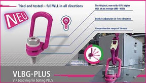 New VLBG PLUS Now Offers 45%  Higher Working Load Limit (M8-M30)