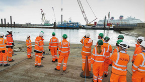 PRESIDENT OF THE INSTITUTION OF CIVIL ENGINEERS HAILS DOVER WESTERN DOCKS REVIVAL AS 'ESSENTIAL'
