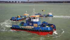 Also pictured are the Meercat Boats ' vessels Spartina, owned by Associated British Ports and Willdart, owned by Williams Shipping.