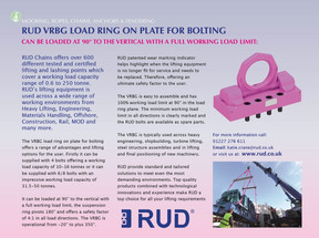 RUD VRBG Load Ring on Plate for Bolting