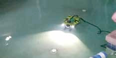 Washington County ROV in pool.