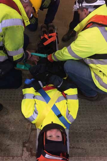 Saviour Stretchers were put to the test during training at the Port of Milford Haven