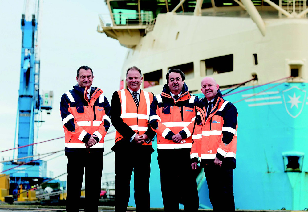 Left -right: Oran Robson, Finance Director (Port of Blyth); Michael Hindhaugh, Relationship Director (Lloyds Bank Commercial Banking); Geoff Hodgson, Chairman (Port of Blyth); Martin Lawlor, Chief Executive (Port of Blyth).
