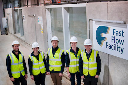HR Wallingford's Fast Flow Facility project team