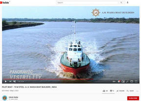 Teignbridge India PVT Ltd Is Proud to Have Supplied Two Wadia Built 19m Pilot Boats