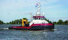 ISA TOWAGE B.V. CELEBRATES NAMING OF NEW SHOALBUSTER 3209 'ISA' AT DAMEN SHIPYARDS HARDINXVELD