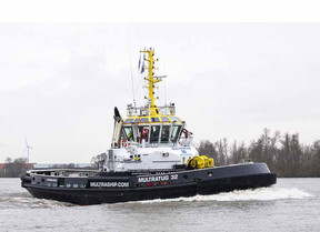 DAMEN SHIPYARDS GROUP CELEBRATES MULTRASHIP CARROUSEL RAVE TUG WINNING THE MARITIME KVNR SHIPPING AW