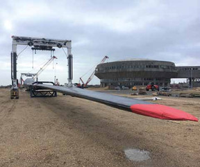 WILLIAMS SHIPPING BEGINS CONTRACT TRANSPORTING 82M WIND TURBINE BLADES