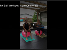 Stability Ball Workout, Core Challenge