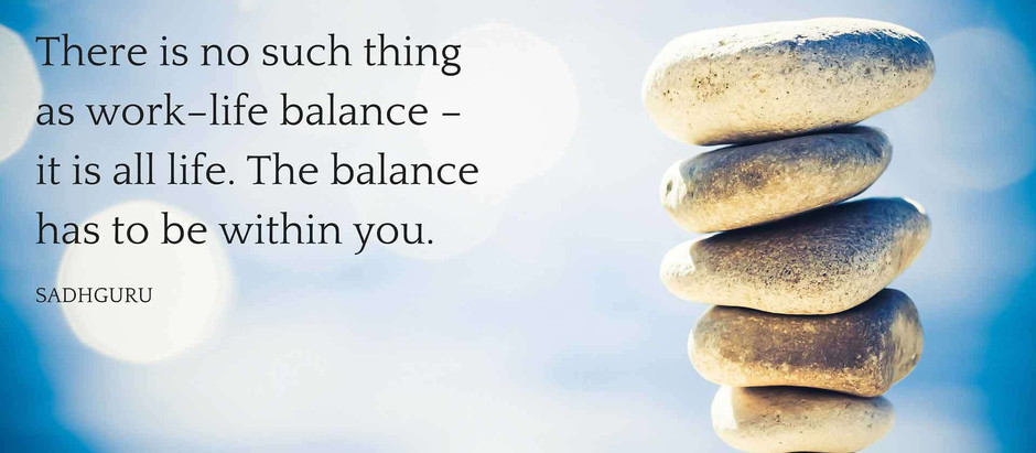 Finding Balance ... and Mental Clarity