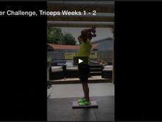 October Challenge, Triceps