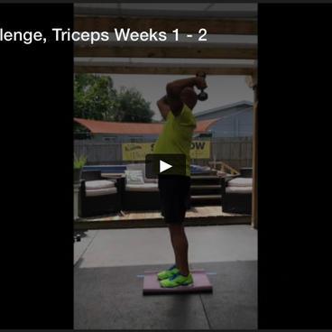 October Fitness Challenge, Triceps Week 1-2