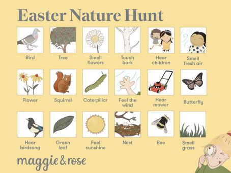 We're going on an Easter scavenger hunt!