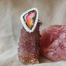 Crafted in Penzance, Cornwall, each of these rings are completely handmade in sterling silver and each stone,  hand picked.  Founder, Joey has a massive love for crystals and the power they hold and is dedicated creating these beautiful and powerful rings.