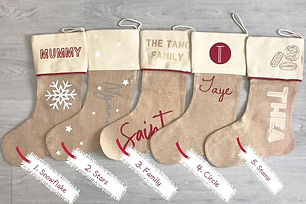 Founded by Francesca Lee in Newcastle upon Tyne, this small local business specialises in personalised clothing and accessories for the whole family. Their Christmas stockings come in five different designs.