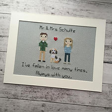 Bexstitchesall Stitch2Smile designs using a variety of embroidery techniques and a real passion for this very special craft.  With 20 years of experience, Bexcan help you design and create a truly unique gift that is guaranteed to raise a Smile.  Why not gift a timeless family heirloom or perhaps treat yourself?