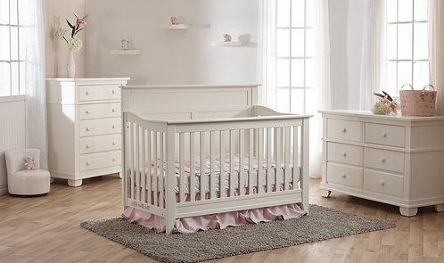 Napoli Flat Conversion Crib White