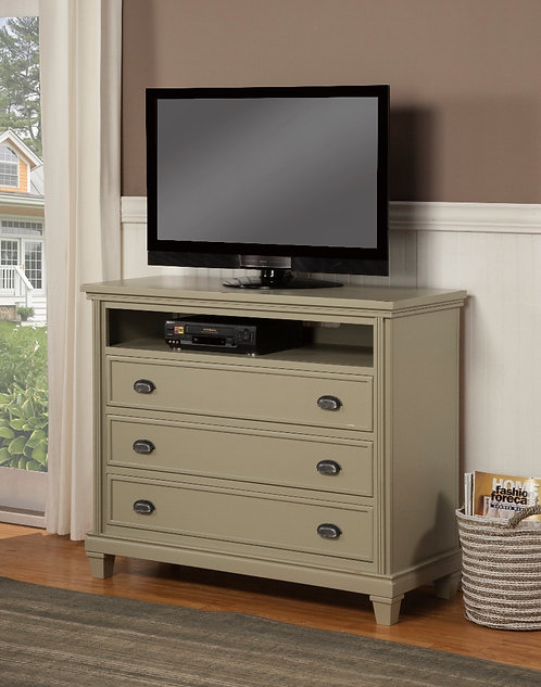 Mission 3 Drawer Dresser with Cubby