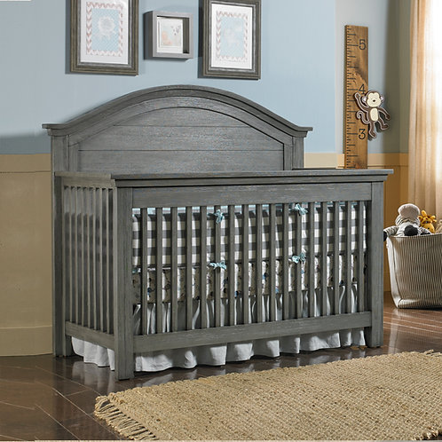 Lucca Curved Conversion Crib Weathered Grey