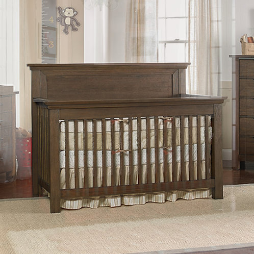 Lucca Flat Conversion Crib Weathered Brown