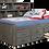Sideways Bookcase Twin Bed Grey