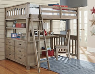 Highlands Full Loft Bed w_ Desk