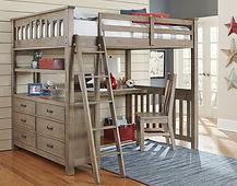 Highlands Full Loft Bed w_ Desk