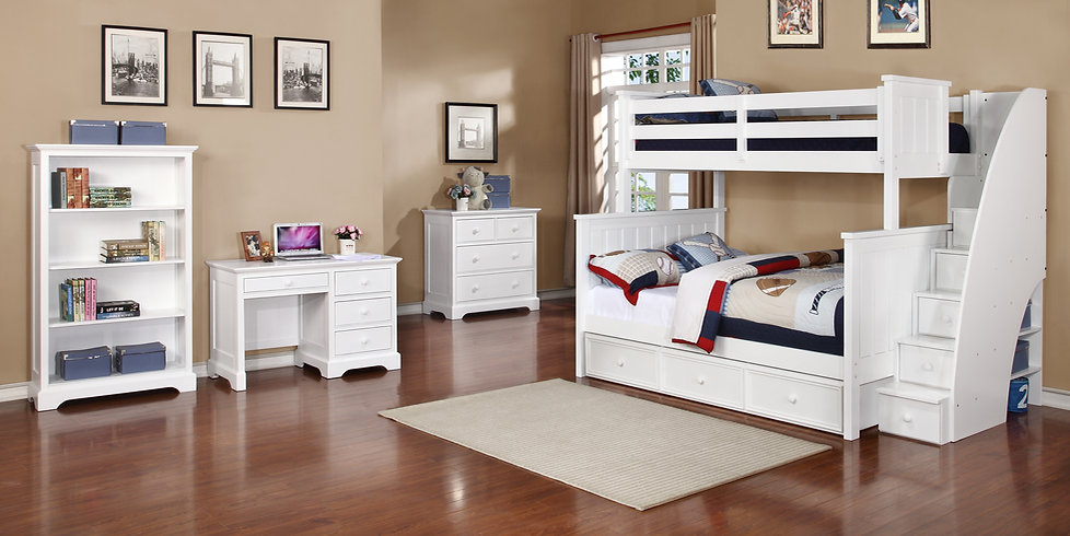 Jordan Twin over Full Bunk Bed with Stai