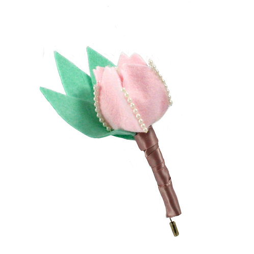 Tulip and Pearl Boutonniere