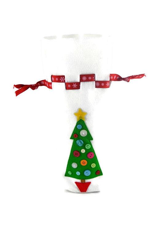 Wine Bottle Holder - Christmas Tree