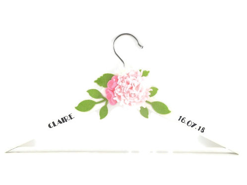 White Wooden Hanger - Pale Pink