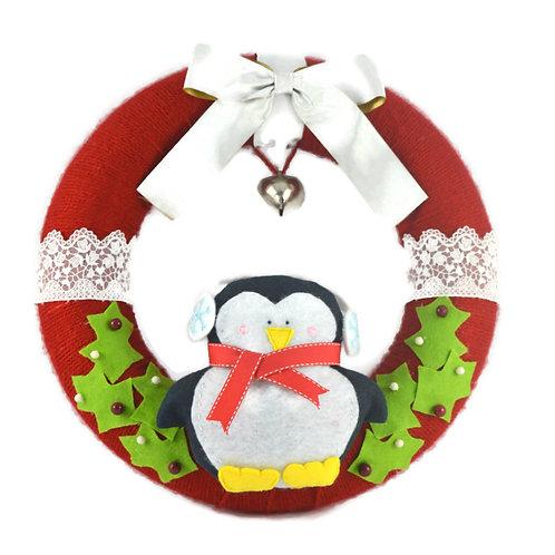 Festive Wreath - Penguin