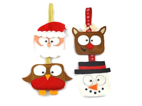 4 pack of Christmas decorations