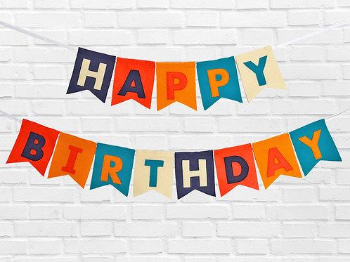 Bright Birthday Bunting