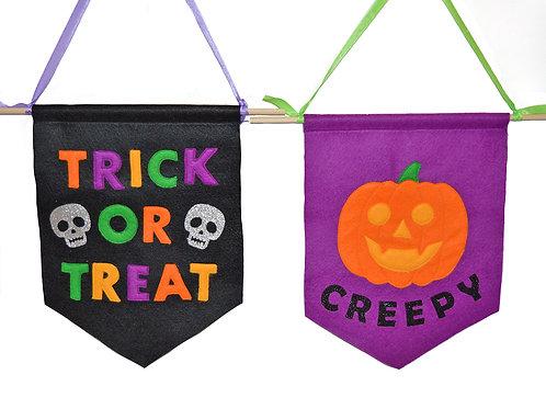 Set of 2 Halloween Flags