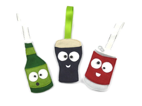 Set of 3 Alcohol Decorations